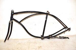 "1966 Schwinn Fleet Bicycle ** FRAME FORK HEAD BADGE CHAIN ** 26"" Tire Bike Part"