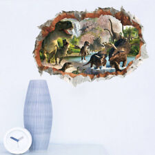Vivid Jurassic Park Wall Sticker 3d Dinosaur Stickers For Kids Mural  XC