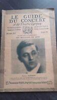 REVUE LE GUIDE DU CONCERT ET DES THEATRES LYRIQUES 1927 N°16 S.DUSHKIN