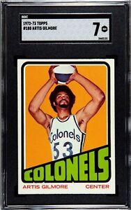 1972 Topps #180 Artis Gilmore Rookie Card SGC 7 NM