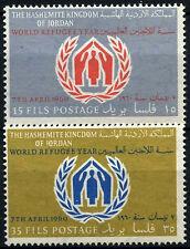 Jordan 1960 SG#497-8 Anno mondiale del rifugiato Gomma integra, non linguellato Set #D33746