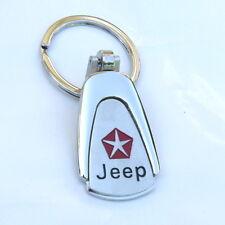 Metal Key chain Ring Fob C Jeep Grand Cherokee Wrangler Compass Car Chrome  CJ5