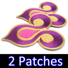 2x Thai Airways TG Royal Orchid Logo Iron On Patch Airplane Airline Airbus Boing