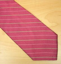 Brooks Brothers Makers Pink w/ Light Green & Pink Stripes 100% Silk Necktie Tie