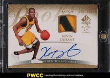 2007 SP Authentic Kevin Durant ROOKIE RC PATCH AUTO /299 #152