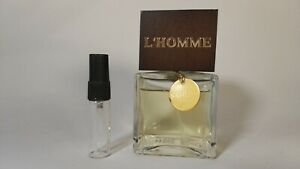 SAHLINI - L'Homme. Choose the size you want to try. 1ml, 5ml or 10ml