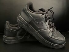 Kids Preowned Rare All Black Nike Air Force Airforce 1's Sz 1Y 1