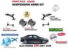 PER ALFA ROMEO 156 1997->2x ANT INFERIORE FORCELLA ARMS BIELLETTE + BOCCOLE