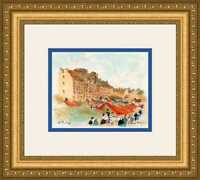 """Urbain Huchet, """"Marche a Rennes"""" - Hand Signed/Numbered Lithograph"""