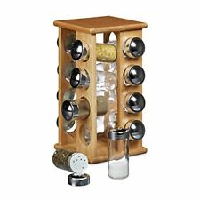 Relaxdays 10020317 Espositore/dispenser Porta spezie con 16 Contenitori in tut