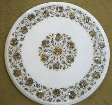 "18"" Marble Coffee Table Handmade Lapis  Inlay Pietra dura Art  Home Decor"