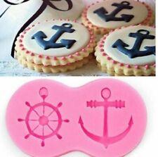 Anchor wheel Silicone Mould Cupcake Baking Decorating Chocolate Nautical