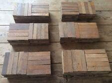 80 Fingers Reclaimed Antique Parquet Flooring Wood! Final Stock! Free Uk P&P!