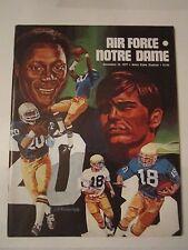 1977 NOTRE DAME VS AIR FORCE COLLEGE FOOTBALL PROGRAM - TUB Q