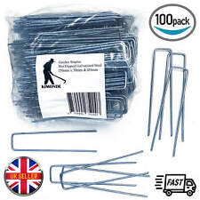 More details for weed fabric galvanised staples garden turf securing pegs u pins artificial grass
