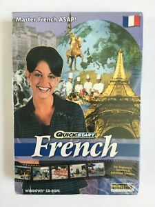 QuickStart French WINDOWS CD ROM Quick & Easy Way to Learn Immersion Method NEW