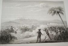 EGYPTE NAPOLEON COMBAT D'ABOUMANA GRAVURE 1838 VERSAILLES R1017 IN FOLIO