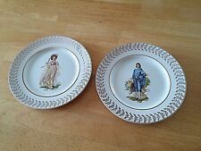 """BARKER BROS. STOKE ON TRENT ENGLAND PR. PINKY/BOY BLUE COLLECTIBLE 10.25"""" PLATES"""