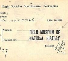 KK147 1927 USA Chicago Superb *FIELD MUSEUM OF NATURAL HISTORY* Cachet Card