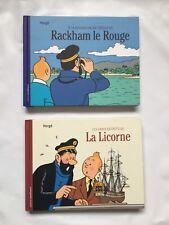 TINTIN LES VRAIS SECRETS DE LA LICORNE & RACKHAM LE ROUGE / LOT BD / HERGE