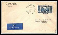GP GOLDPATH: HAITI COVER 1938 AIR MAIL _CV593_P01