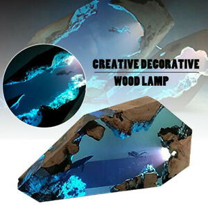 Blue Diver and Humpback Whale Epoxy Table Lamp Night Light Halloween Home Decor