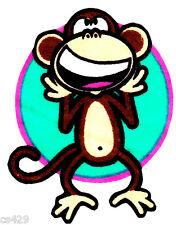 "3.5"" Bobby jack monkey fabric applique iron on character"