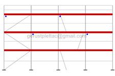 Gerüst Typ Plettac 102 qm Fassadengerüst Stahlrahmen mit DEUTSCHER ZULASSUNG