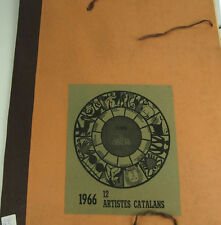 N6-003. CALENDAR YEAR 1966 12 LITHOGRAPHS. SIGNED BY CATALAN ARTISTS.