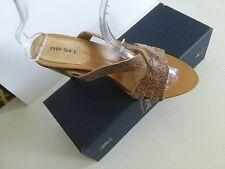 "Gorgeous Women's DIESEL Leather Sandals Slides Open Toe 4"" Heels US 9 9.5"