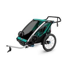 Thule Chariot Lite 2, Bleu Vert Gazon - Remorque de Vélo, Buggy