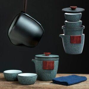 Portable Travel Tea Supplies Set Porcelain Teapots With Cups Home Essentials New
