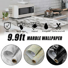 9.9ft Self Adhesive Marble Paper Countertop Wallpaper Wall Decor Sticker Kitchen