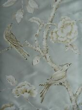 """ZOFFANY CURTAIN FABRIC DESIGN """"Woodville Silk """" 3.6 METRES ICE FLOES 100% SILK"""
