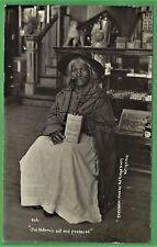 RPPC AMERICAN INDIAN WOMAN OLD NOKOMIS SAT & PONDERED  PEERLESS TOBACCO AD