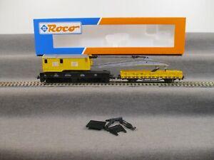 Roco H0 46331 Güterwagen Kranwagen Niederbordwagen der DB in OVP