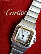 CARTIER SANTOS GOLBEE Stainless steel & yellow gold braclet watch 1567