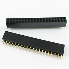 100Pcs 2.54mm Pitch 2x20 Pin 40 Pin Female Double Row Straight Pin Header Strip