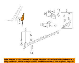 Buick GM OEM 08-17 Enclave Exterior-Pillar Molding Right 20914870