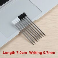 Refill Metal Ballpoint Pen 70mm Small Cartridge Pen Rod For Crystal Pen Ink
