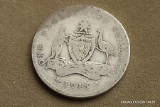 1915 SILVER FLORIN  *SCARCE* WORN PREDECIMAL COIN 925 SILVER  #CACT5