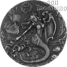 THE SIREN - Mythical Creatures Series - 2oz Antique Finish Silver Coin 2018 BIOT