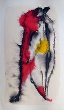 META DRAWING 56 original ART painting MODERN abstract LOVE erotica COUPLE gift
