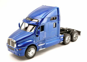 Model Truck Lorry Welly Scale 1:3 2 Kenworth T2000 2007 Blue diecast