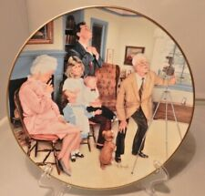 """Gorham Collector's Plate """"Family Portrait"""" Michael Hagel American Family Collect"""