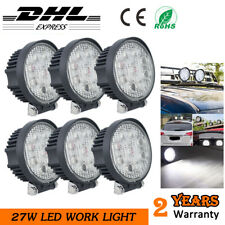 6x 27W Car LED Work Light Round Spotlight 4x4 Offraod Tractor SUV Reverse Lamp