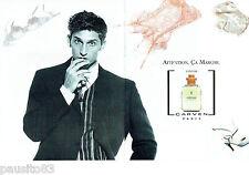 PUBLICITE ADVERTISING 125  1996  CARVEN eau toilette homme (2p) VETIVER