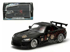 THE FAST AND FURIOUS 2001 JOHNNY'S 2000 HONDA S2000 BLACK 1/43 GREENLIGHT 86205