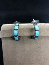 Native American Earrings Silver Sterling Turquoise