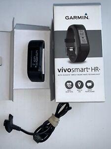 Garmin Vivosmart HR+ Watch w/ GPS,  Step Counts & Sleep Monitoring - Black- Used